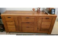 Beautiful solid wood table and matching sideboard
