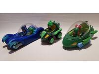 Bundle PJ Masks Cat Gekko Owlette Boy Figures and Vehicles Toys Xmas