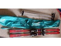Men's Rossignol Rebel Freeride skis with Salomon bindings + poles+bag