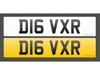 D16VXR Private Number Plate