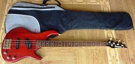 Ibanez TRB 200 4 String Bass (94-96) - VGC (Vintage - Metal - Cherry Wood Finish)