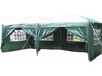 Large Airwave Pop Up Gazebo Garden Shelter 6x3m - Green, Unused