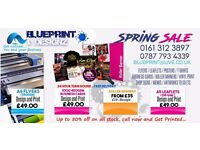UP TO 50%SPRING SALE NOW ON AT BLUEPRINT & DESIGNZ (24 HOUR TURNROUND CHEAP PRINTING & DESIGNZ)