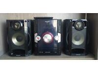 Panasonic SA-AKX10EB-K (Black) CD Stereo System, (250w output)