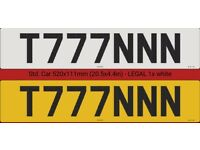 NEW PRIVATE REGISTRATION NUMBER T777NNN NEVER USED ON THE VEHICLE !!!