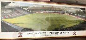 Framed Southampton football picture