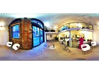 Contemporary, affordable office space in exceptional converted railway arch studio, London Bridge