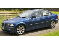 2001 BMW 3 SERIES 318i SE AUTO, Blue 4-dr Saloon, 1.9L Petrol, 143K Miles, MOT, Serviced