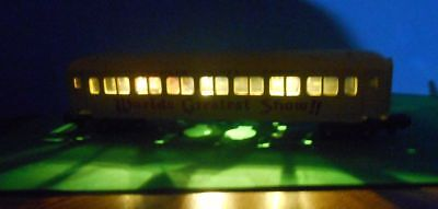 O Scale / S Scale  Passenger Car LED Lighting KIT with On-board Battery & Switch
