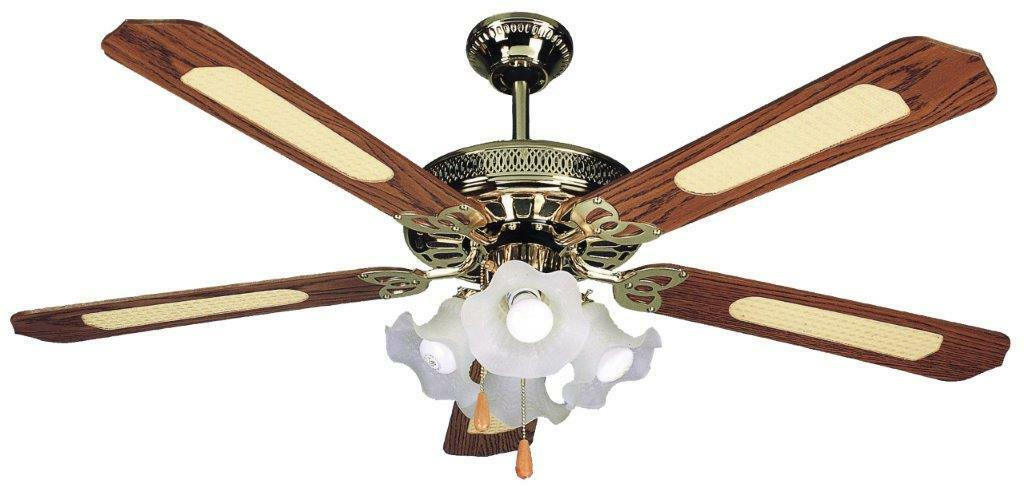 VENTILATORE DA SOFFITTO VINCO 5 PALE+ 4 LUCI ART.70900