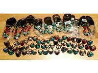 Joblot of Costume Jewellery 12x bracelets & 50x Rings