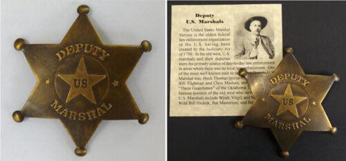 Deputy U.S. Marshal Badge, antiqued brass, old west, western, Heck Thomas