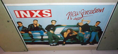 INXS New Sensation Group Vintage POSTER New Condition
