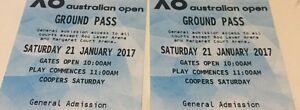 Aust Open Tennis x2 Grnd Pass Sat 21/1 $110 ONLY below Face Value Surrey Hills Boroondara Area Preview