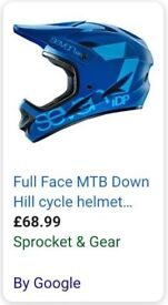 Seven iDP downhill bike helmet blue size medium