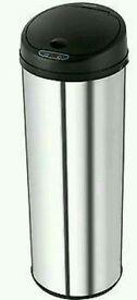 Morphy Richards 971002 50Ltr Round Sensor Bin Polished S/Steel - Brand New