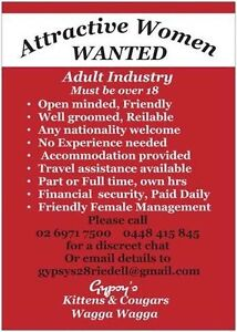 GYPSYS Kittens & Cougars - workers wanted!! top $$$ East Wagga Wagga Wagga Wagga City Preview