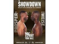 A NIGHT OF CHAMPIONSHIP PROFESSIONAL BOXING - THE SHOWDOWN