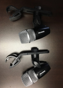 2 Shure PG56 Snare/Tom microphones with clips