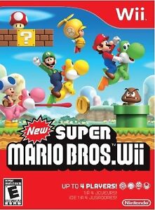 Brand New Factory Sealed New Super Mario Bros. for Nintendo Wii!