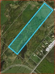VACANT LAND - 50 ACRES  -  ZONED RESIDENTIAL /AGRI