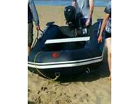 Boat and 3.5 hp outboard