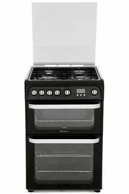 Hotpoint HUG61K Gas Cooker, Black