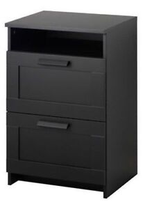 Black 2-Drawer Nightstand **RELOCATION SALE-SEND ME YOUR OFFER**