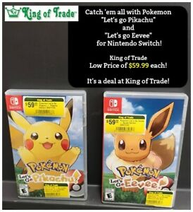 Pokemon Lets go Pikachu and Evee Nintendo Switch - King of Trade
