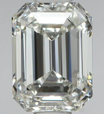 GIA Certified FLAWLESS 1.01 Carat Emerald Cut Natural Diamond For SALE GIA