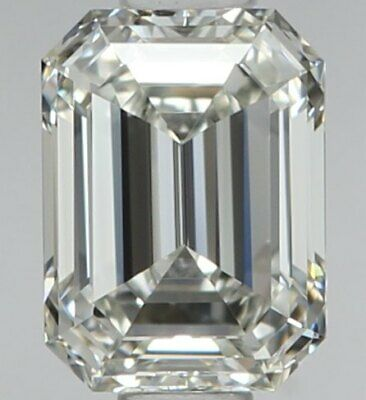 Eye Clean Diamond - 0.53 Carat Emerald Cut Diamond - You Cant Get A Better Deal