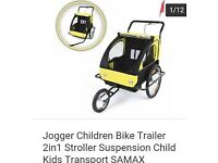THIS IS NOW SOLD - Jogger Children bike trailer