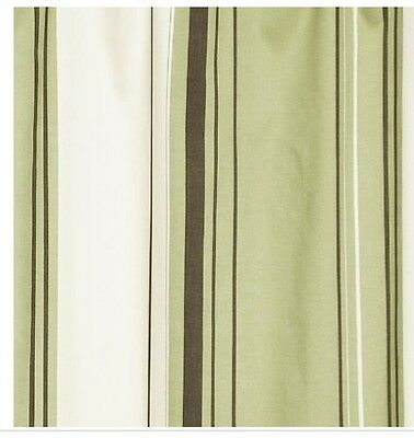 NAUTICA WEST END Green Fabric Shower Curtain NIP