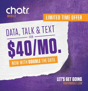 Chatr Mobile Agincourt Mall, Double Your DATA Limited Time Offer