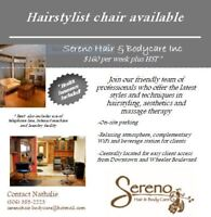 Hairstylist-Chair Rental (Health Insurance Included)
