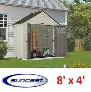 NEW* SUNCAST TREMONT SHED 8' x 4' BMS8400 194402679 STORAGE STRUCTURE SHED PATIO
