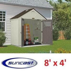NEW* SUNCAST TREMONT SHED 8' x 4' BMS8400 212069097 STORAGE STRUCTURE SHED PATIO