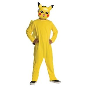 Kids Pikachu Costume Size Large With Mask