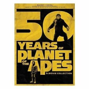 Planet of the Apes 9 Disc Blu-ray collection box set NEW in box.