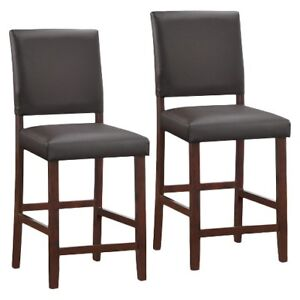 "Brand NEW Leick Home Apple Valley 24"" Bar Stool - Cappuccino Set"