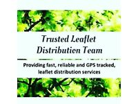 LIVE-GPS-TRACKED LEAFLET DISTRIBUTION. HAND TO HAND/DOOR TO DOOR LEAFLETING.