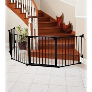Kidco Safety gate-Black Steel, multi position, extra wide gate