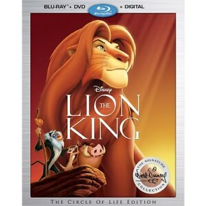 Disney The Lion King Blu Ray+DVD+Digital Sealed.