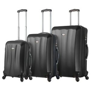 New Viaggi Italian 3 Piece Luggage Set - black/blue/red/purple+