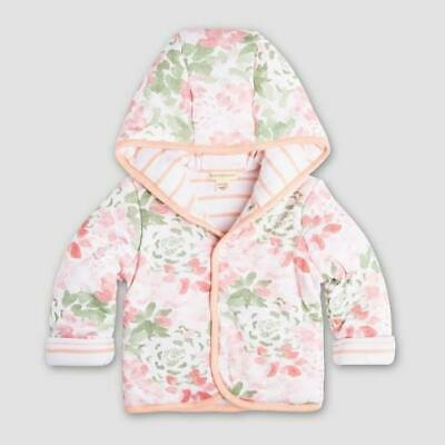 Burt's Bees Baby Organic Hooded Reversible Snap Front Jacket
