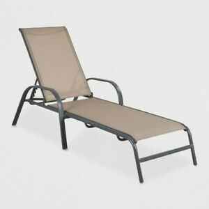 OUTDOOR SLING STACK CHAISE