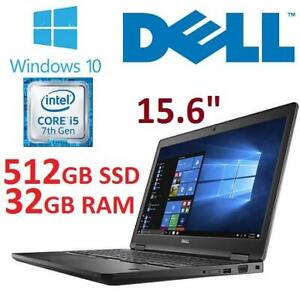 RFB DELL PRECISION 3520 LAPTOP PC 3520 247982318 15.6 I5-7440HQ 8GB RAM 512GB SSD WIN10 REFURBISHED NOTEBOOK COMPUTER