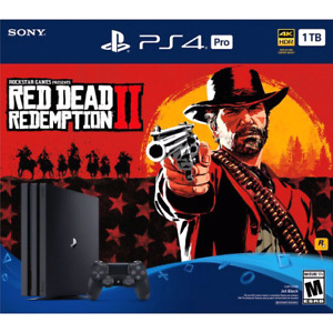 Brand new sealed Ps4 Pro 1tb Dead red redemption 2 bundle