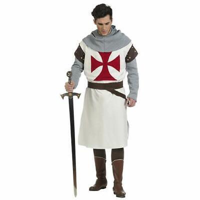 Tempelritter Herren Kostüm Ritter Schwertkämpfer Herrenkostüm (Schwert Kämpfer Kostüm)