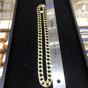 "Men's 10Kt Yellow Gold 24"" Diamond Cut Chain"